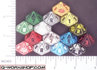 Dice : D10 OPAQUE ROUNDED SOLID Q WORKSHOP CHIP 01