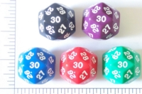 Dice : D30 OPAQUE ROUNDED SOLID 2