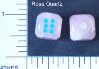 Dice : STONE D6 ROSE QUARTZ