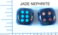 Dice : STONE D6 JADE NEPHRITE