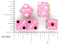 Dice : D6 OPAQUE ROUNDED SOLID GAMESTATION SPECIAL OCCASION 03