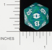 Dice : D20 OPAQUE ROUNDED SPECKLED MTG LIFE COUNTERS FUTURE SIGHT 05