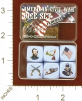 Dice : MINT27 EM4 AMERICAN CIVIL WAR DICE SET FEDERAL 01